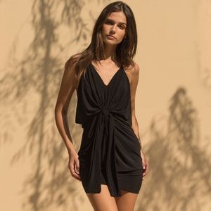 MISA Los Angeles Domino Mini Dress Black